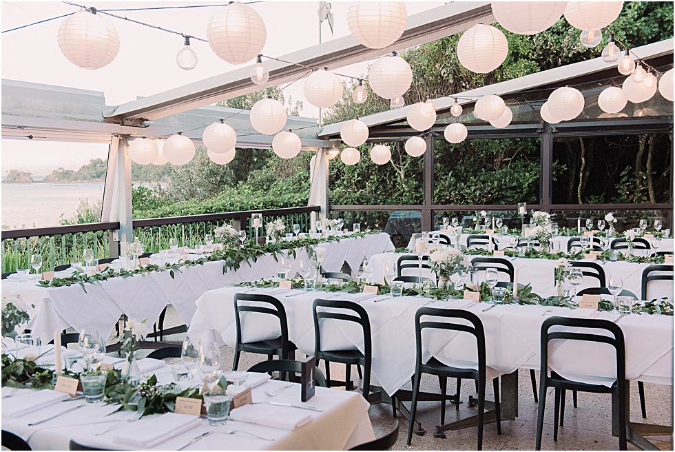 Beach Byron Bay Wedding Reception