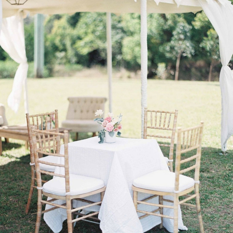 Tiffany Chair Bamboo Bliss Willow Wedding Styling