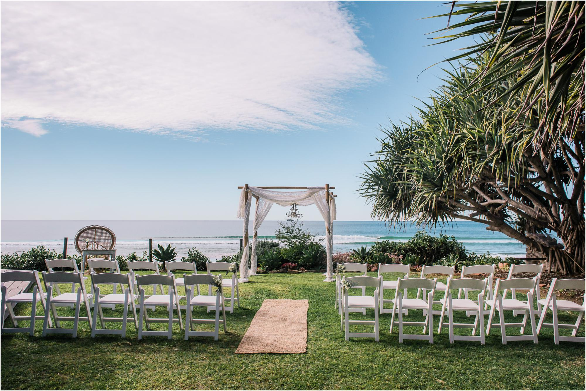 Belongil beach house wedding