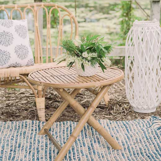 rattan daisy chair bliss willow wedding styling