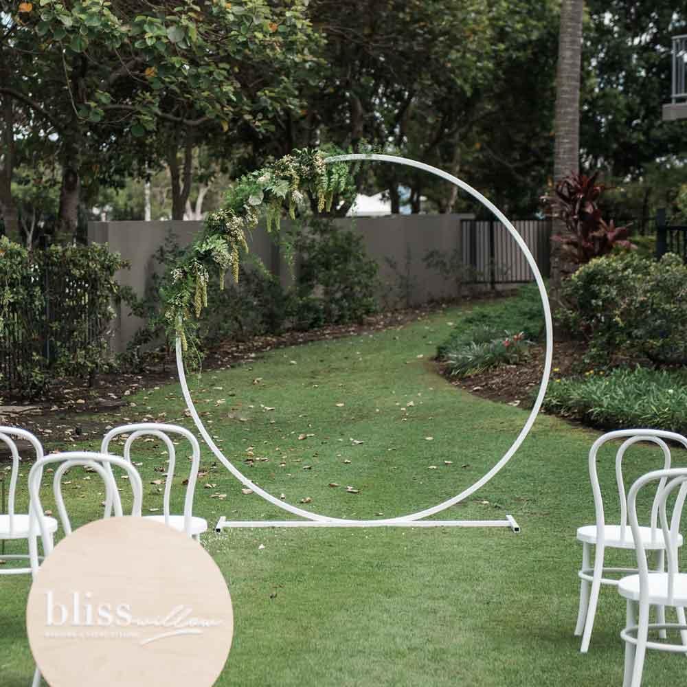 Wedding Arbor Circle: Round Arbour - Bliss & Willow